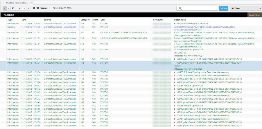 XpoLog stores collected logging data indefinitely