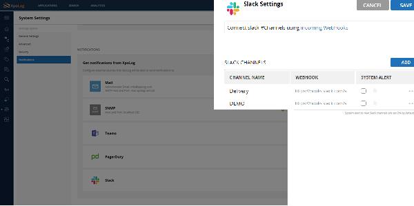 Automated log monitoring alerts - integration to Slack
