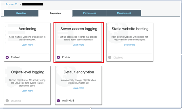 enable server access logging for all important S3 buckets