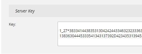 Generate a server key