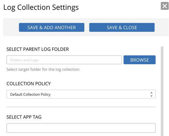 Log data collection settings