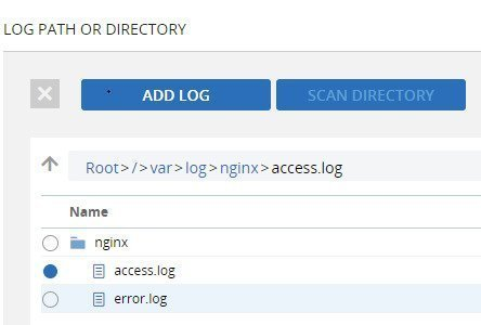 Adding NGINX log data - Add_Log_Path