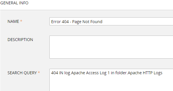 apache access log monitor - error 404 page not found