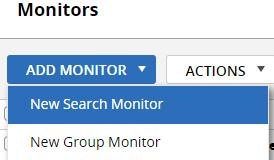 Creating log monitor