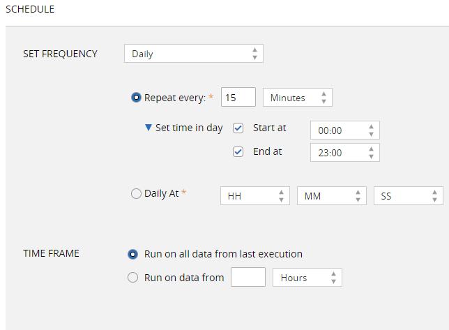 schedule a log monitor