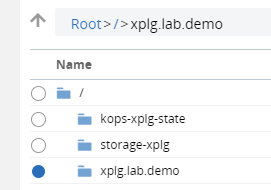 "In the images below, we have chosen the XpoLog memory log file by double-clicking on a bucket called ""xplg.lab.demo"", and then browsing through a folder by double-clicking on it"