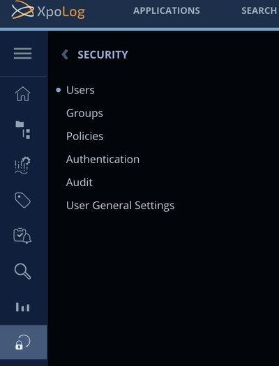 Security menu