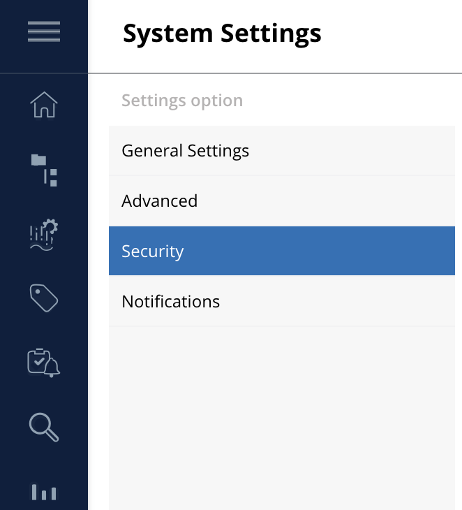 """In the """"SECURITY"""" tab, enable the checkbox """"Activate Security"""